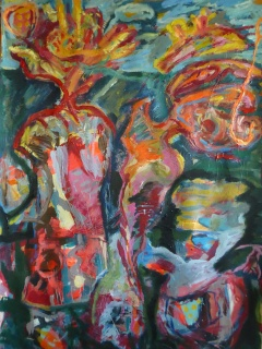 12.-Twin-Pulp-Flowers-Acrylic-on-Paper-100x70cm