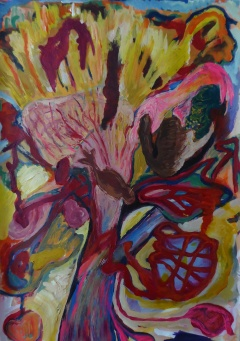 7Pulp-Blossom-Acrylic-on-Paper-100x70cm